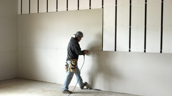 Industrial dry walling and ceiling installation